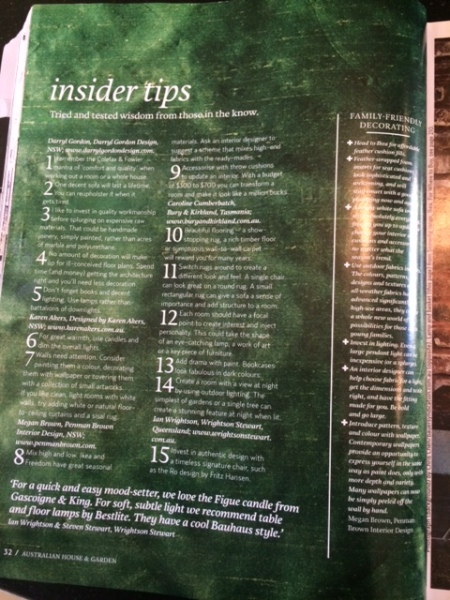 H&G Insider tips